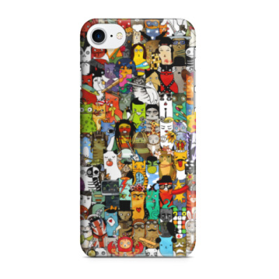 Чехол для iPhone 7/8 Прикольный коллаж из кошек