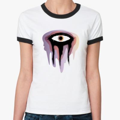 Женская футболка Ringer-T  Тушь
