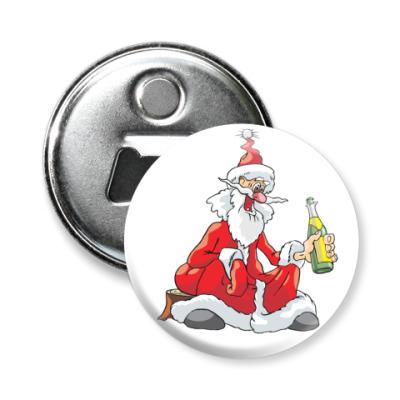 Магнит-открывашка Дед мороз