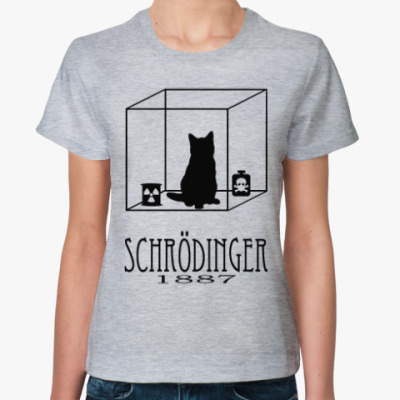 Женская футболка Кот Шрёдингера