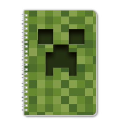 Тетрадь Minecraft Creeper
