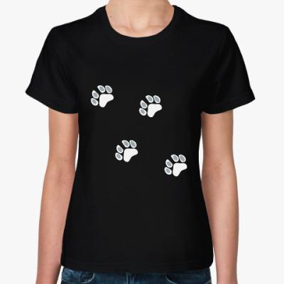 Женская футболка Кошачьи лапки