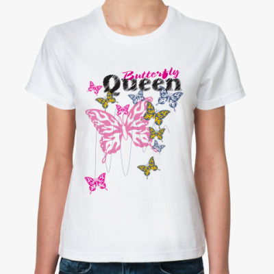 Классическая футболка Queen Butterfly