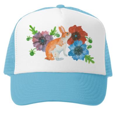 Кепка-тракер Кролик в цветах анемоны