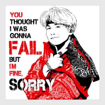 Постер BTS Suga - MIC DROP
