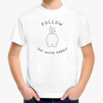 Детская футболка Следуй за белым кроликом