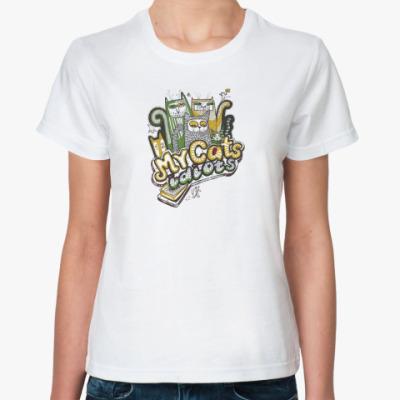 Классическая футболка MyCatsIdiots