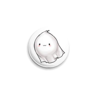 Значок 25мм Kawaii ghost