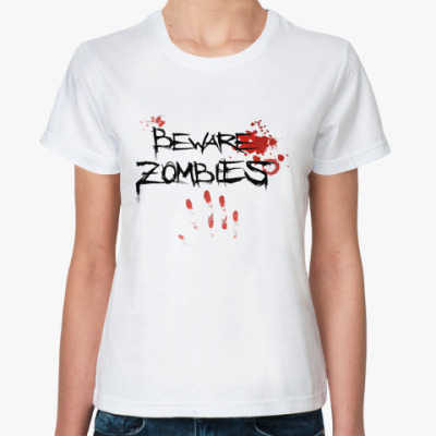 Классическая футболка BEWARE ZOMBI