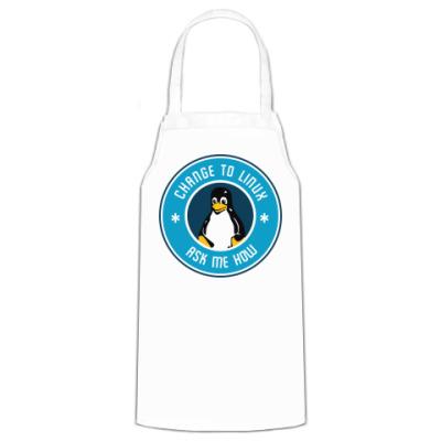 Фартук Change to Linux пингвин Tux