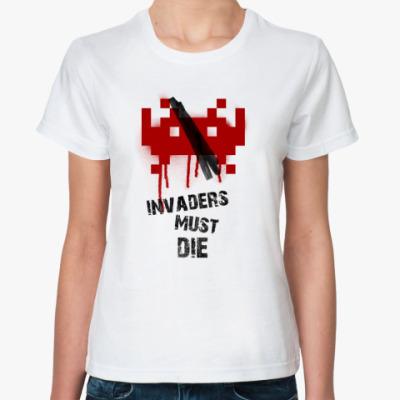 Классическая футболка Space Invaders Must Die