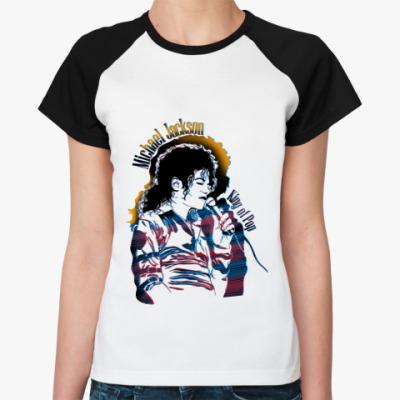 Женская футболка реглан Singing Michael