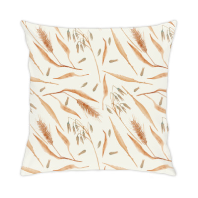 Подушка Колоски пшеницы травинки