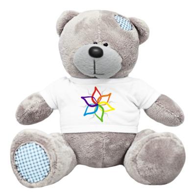 Плюшевый мишка Тедди 'Rainbow flower'