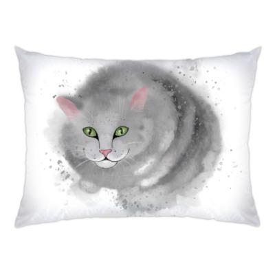 Подушка Серый кот, кошка