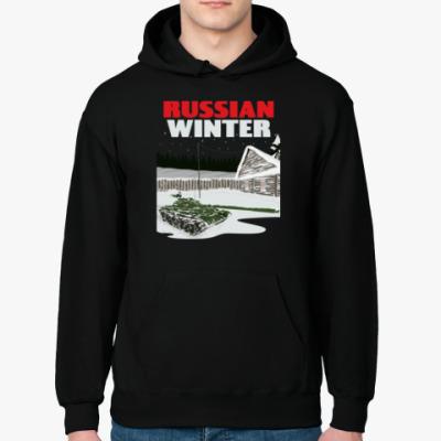 Толстовка худи Русская зима Russian winter